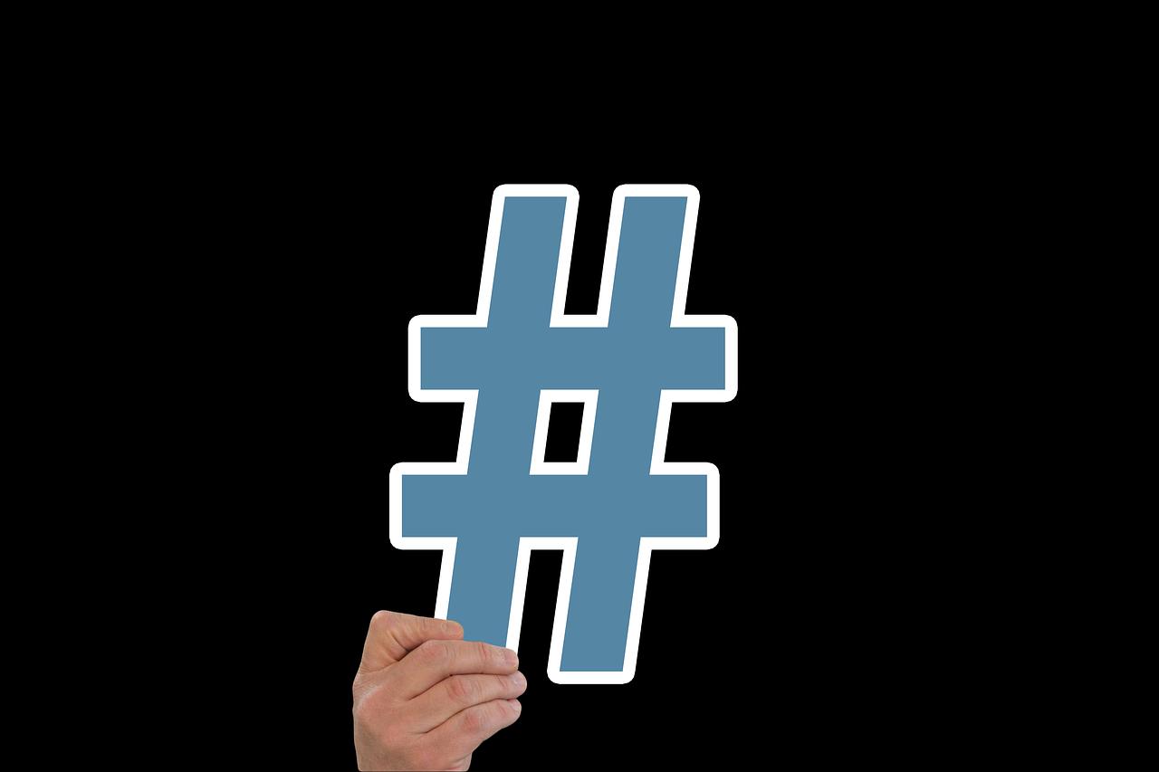 jak napsat hashtag